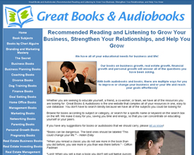 Great Books and Audiobooks